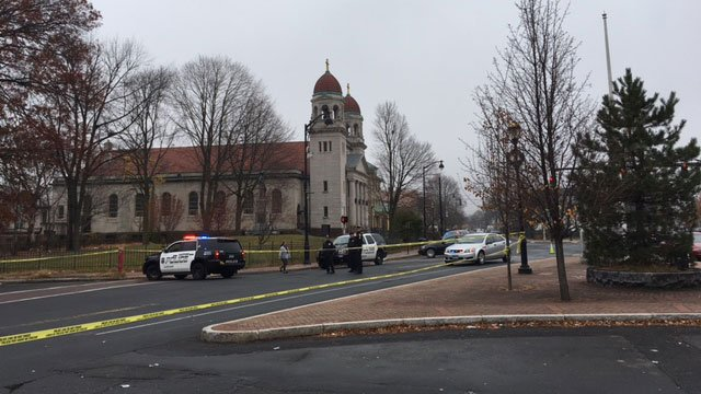 The Hartford Police Department investigating shooting on Friday morning. (WFSB)