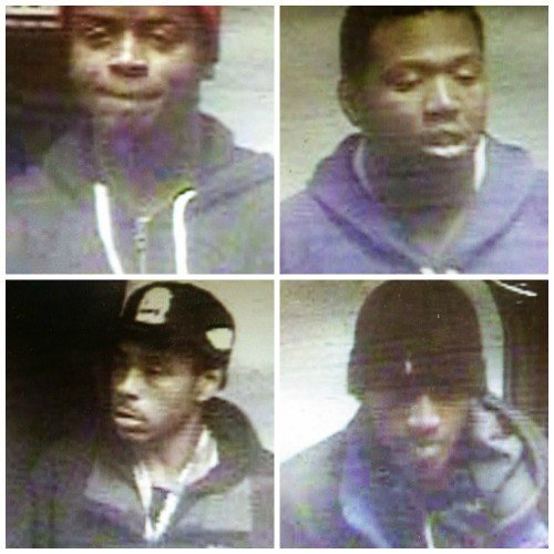 Clinton police are looking for these four suspects. (Clinton PD)