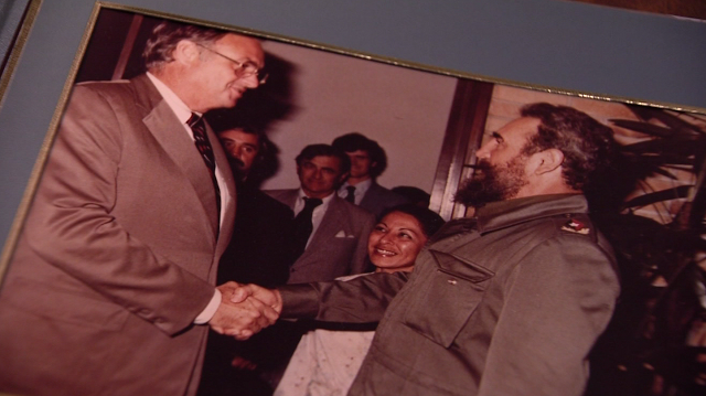 WFSB Reporter Kevin Hogan spoke exclusively with Fmr. Gov Weicker on his trips to Cuba (WFSB)