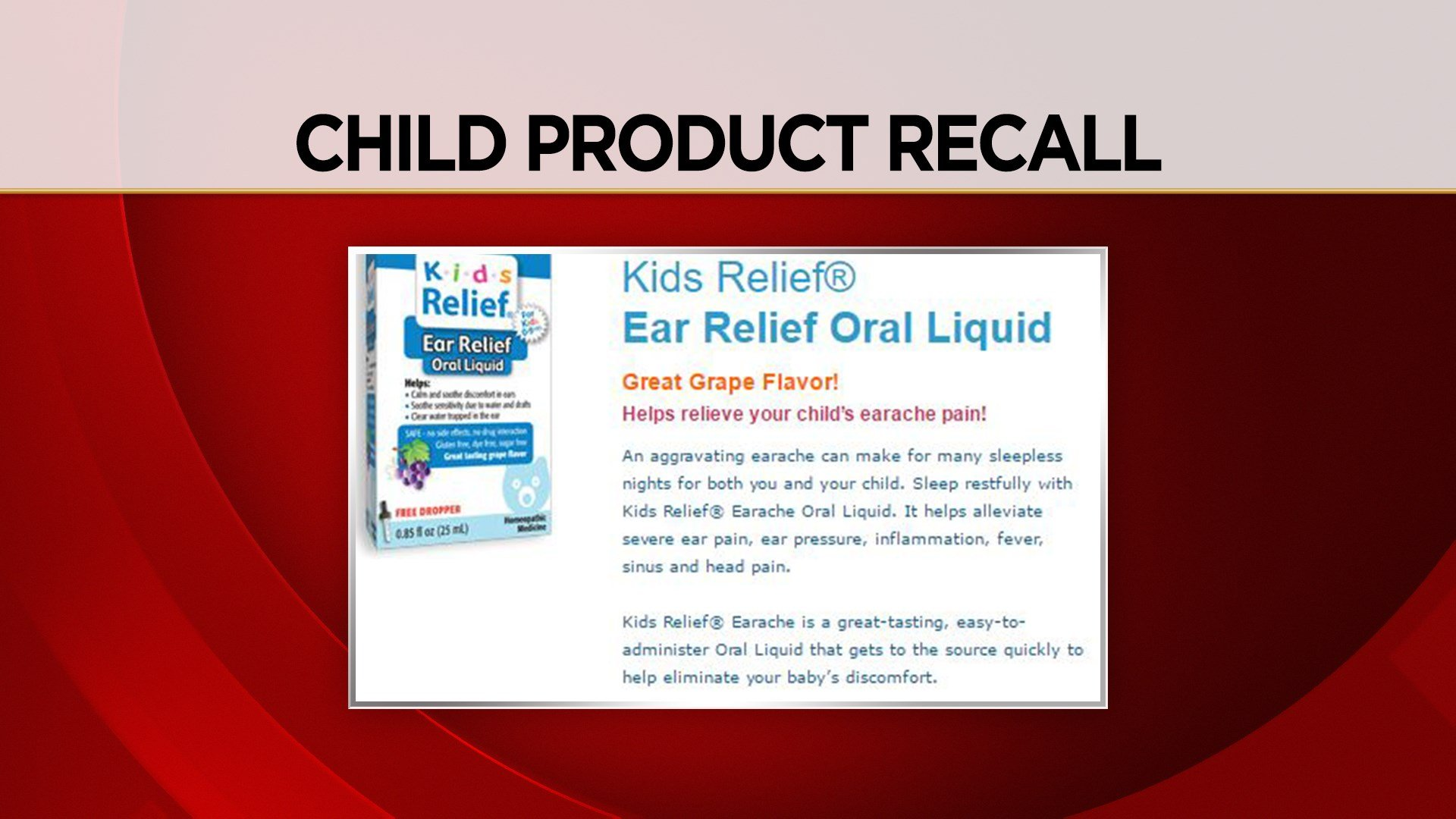 Kids Relief Homeopathic Ear Relief Oral Liquid (Kids Relief website/WFSB)
