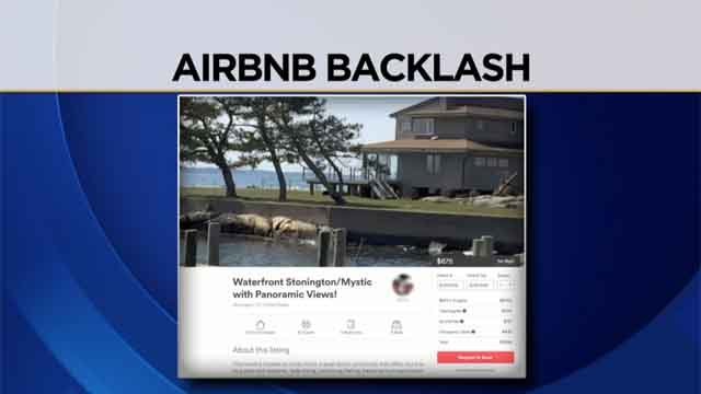 CT shoreline residents upset over Airbnb rentals (WFSB/Airbnb)