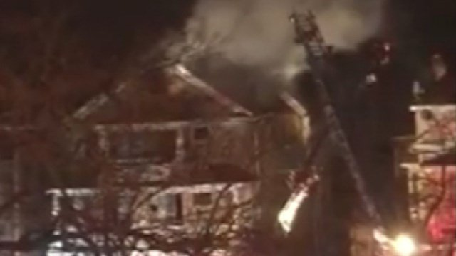 Firefighters responded to a house fire on Robbins Street overnight. (iWitness photo)