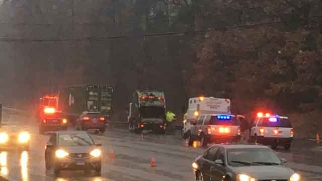 No injuries were reported in the Bloomfield crash (WFSB)