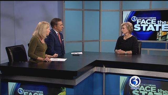 Linda McMahon joined Dennis House and Susan Raff on Face the State. (WFSB file)