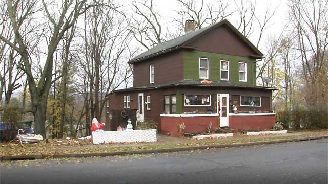A Meriden woman came home to find her Christmas decorations vandalized (WFSB)