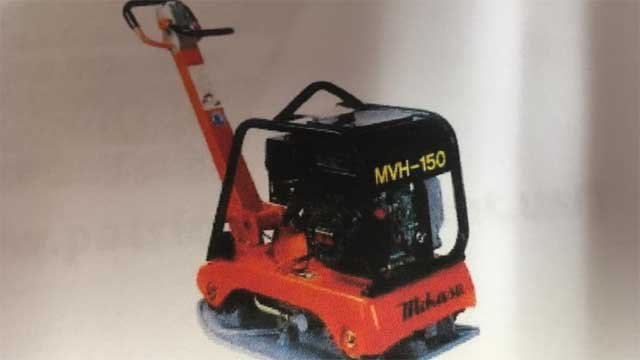 Police said a Mikasa MVH150 reversible plate compactor(pictured) was stolen between 11/27 and 11/28. (Colchester police)