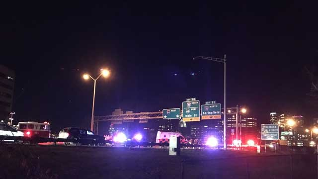 A person was hit by a car in the area of Exit 51 on I-84 west in East Hartford (WFSB)