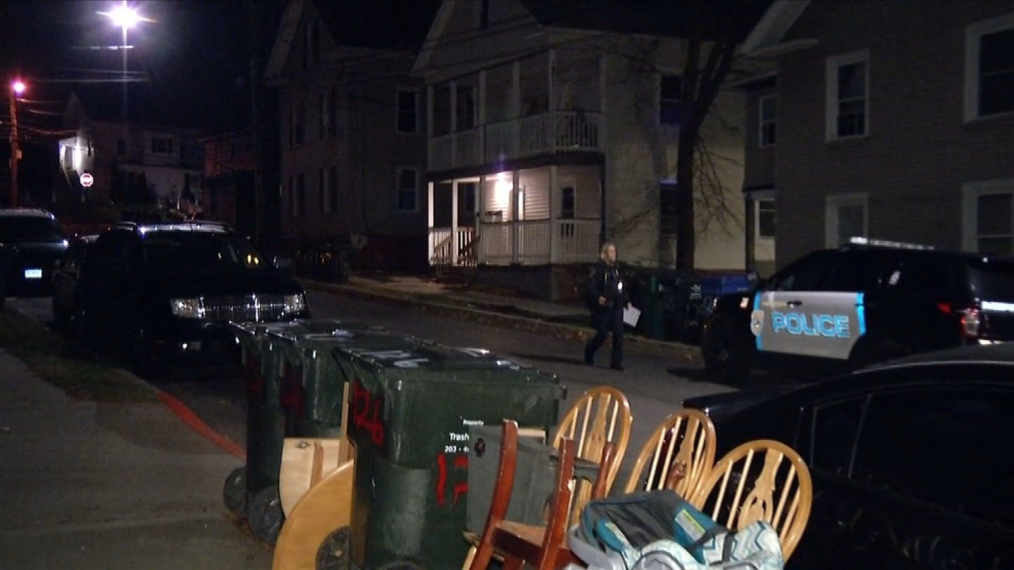 An abducted woman was found on Willow Street in Meriden overnight. (WFSB photo)