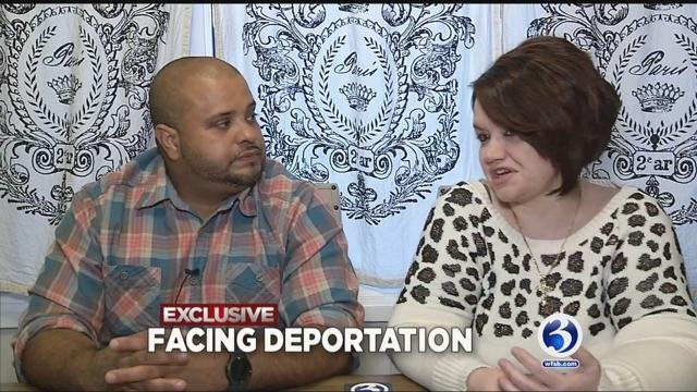 Eyewitness News sat down exclusively with Domingo Ferreira and his wife. He is facing deportation. (WFSB)