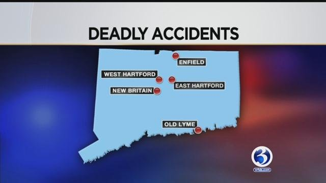 There have been five fatal motor vehicle crashes including three involving pedestrians in Connecticut in less than 24 hours. (WFSB)