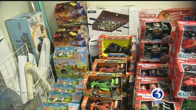 The city's annual Winter Wonderland celebration provides thousands of kids with gifts each year. (WFSB)