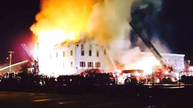 Firefighters responded to a large fire in Danielson. (Eyewitness photo)