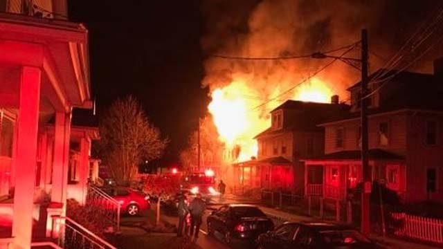 A home in Middletown was destroyed by an early morning fire (City of Middletown Professional Firefighters Local 1073)