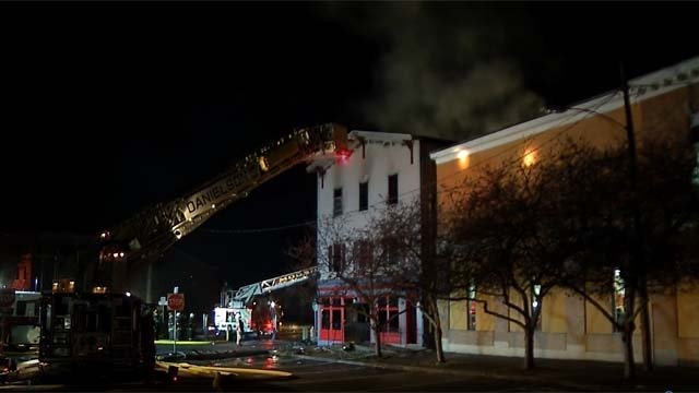 A historic building was destroyed by a fire on Sunday morning (WFSB)