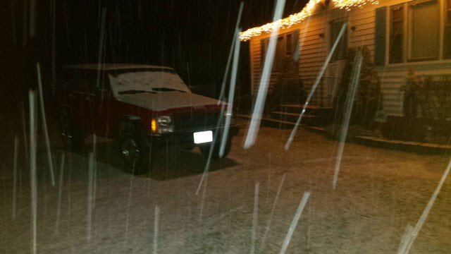 Snow covered the roads in Preston. (Javier/iWitness photo)