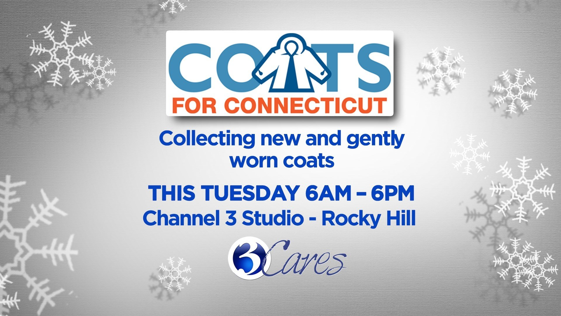 Coats were collected at Channel 3 studios in Rocky Hill. (WFSB photo)