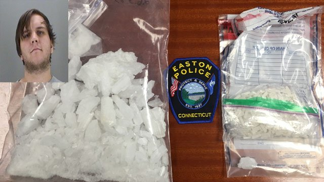 Cavan Devine was arrested buying and selling $50,000 worth of suspected crystal meth. (Easton police photos)