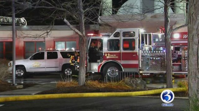 The Jewish Community Center in Woodbridge was closed on Tuesday after a 4-alarm fire. (WFSB)