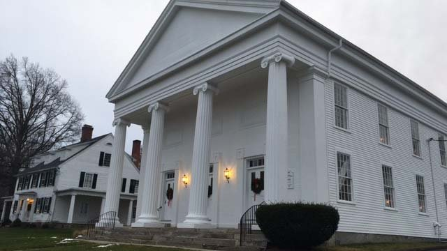 Wrapped gifts were stolen from the First Congregational Church in Watertown. (WFSB)