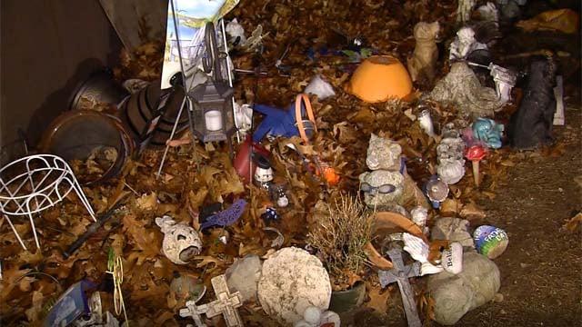 Mementos were found in a trash pile at a Farmington cemetery (WFSB)