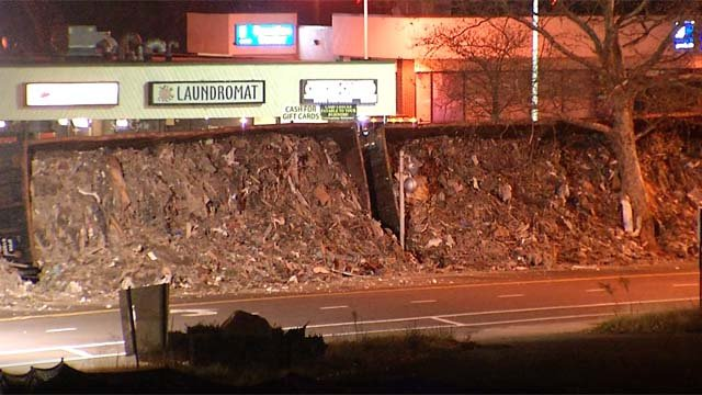 The clean up continues after a train derailed in New Britain on Tuesday (WFSB)
