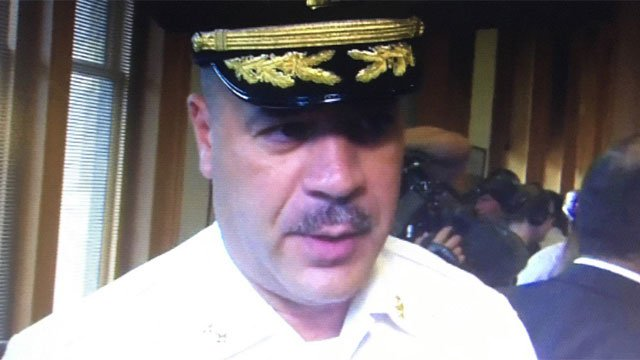 New Haven Asst. Chief Luiz Casanova being investigated for a recent verbal interaction with a patrol officer. (WFSB file photo)