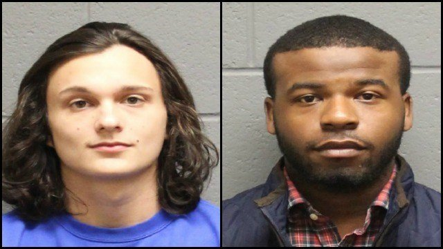 Police said two SCSU students were arrested for an armed robbery Thursday. (Watertown PD)