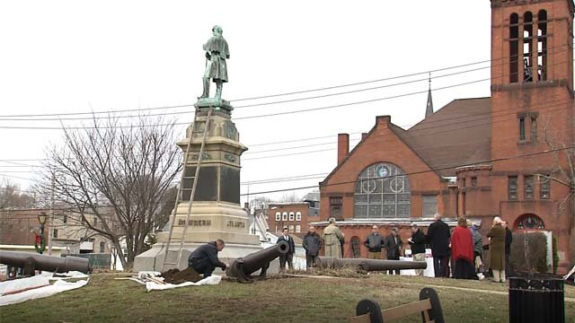 Work is being done to restore a Civil War monument in Derby (WFSB)
