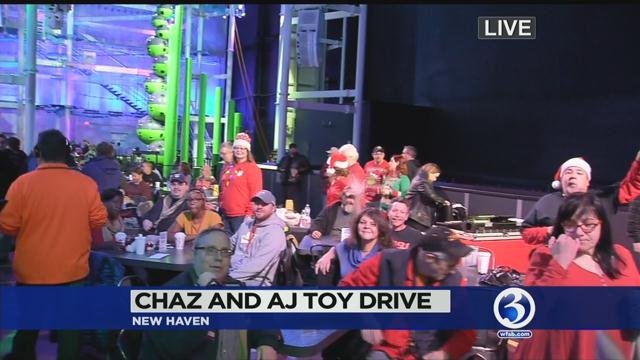 The Chaz & AJ toy drive kicked off in New Haven on Friday morning. (WFSB photo)