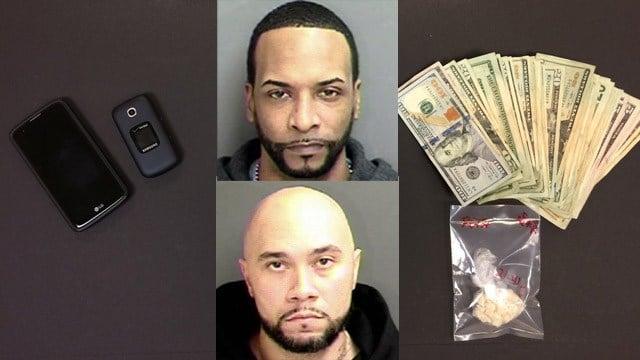 Shakim Outler and Rasheem Singleton face drug charges. (Groton police photos)