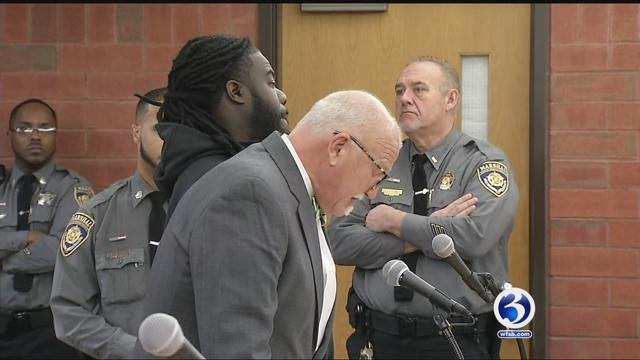 Just one day after his arrest, 34-year-old Harold Patterson was arraigned at Hartford Superior Court on Friday morning on three counts of murder. (WFSB)