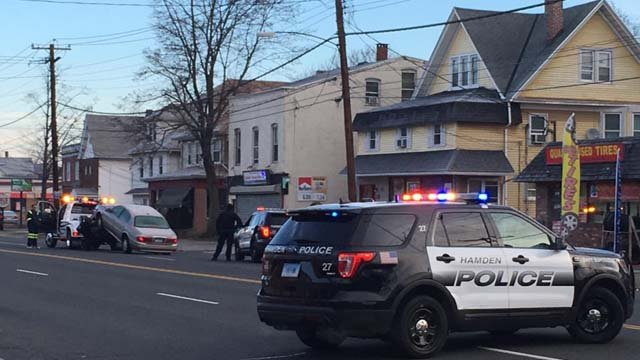 A man has died after he was hit by a car in Hamden early Sunday morning. (WFSB)