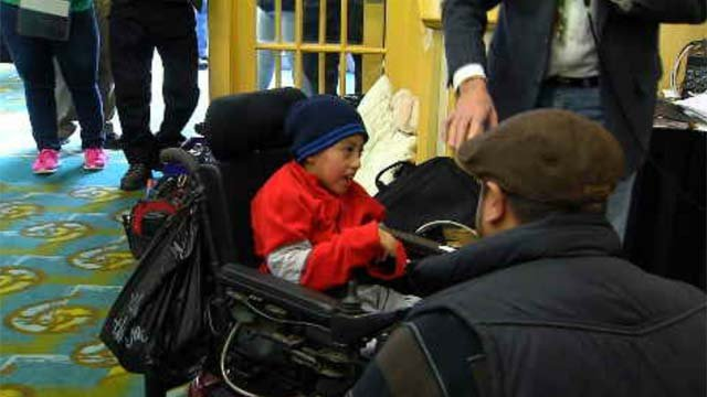 Thanks to a Norwich organization, dozens of people got wheelchairs on Sunday (WFSB)