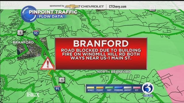 Windmill Hill Rd. is closed due to a fire (WFSB)