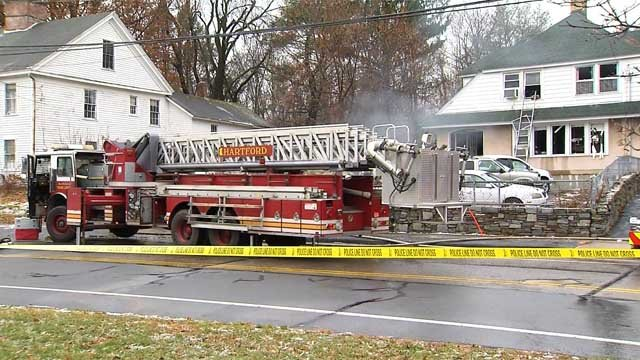 No injuries were reported in an East Hartford house fire Monday morning (WFSB)