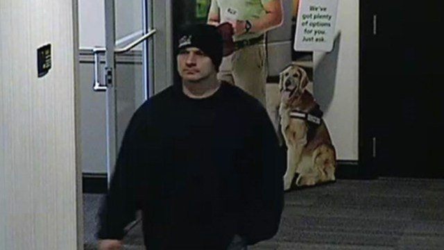 David Latino is accused of robbing a TD Bank in Southington on Monday. (Southington police photo)