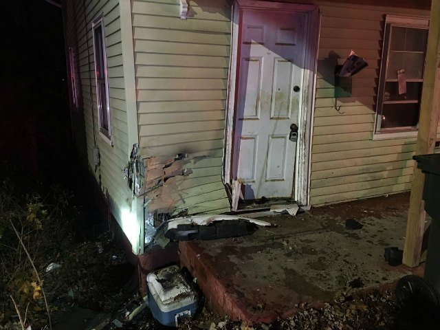 A second home was damaged after a driver crashed into it.