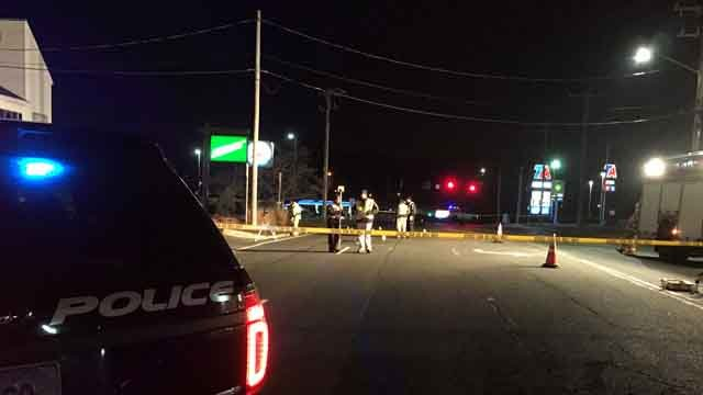 A person was hit by a car in Southington on Wednesday (WFSB)