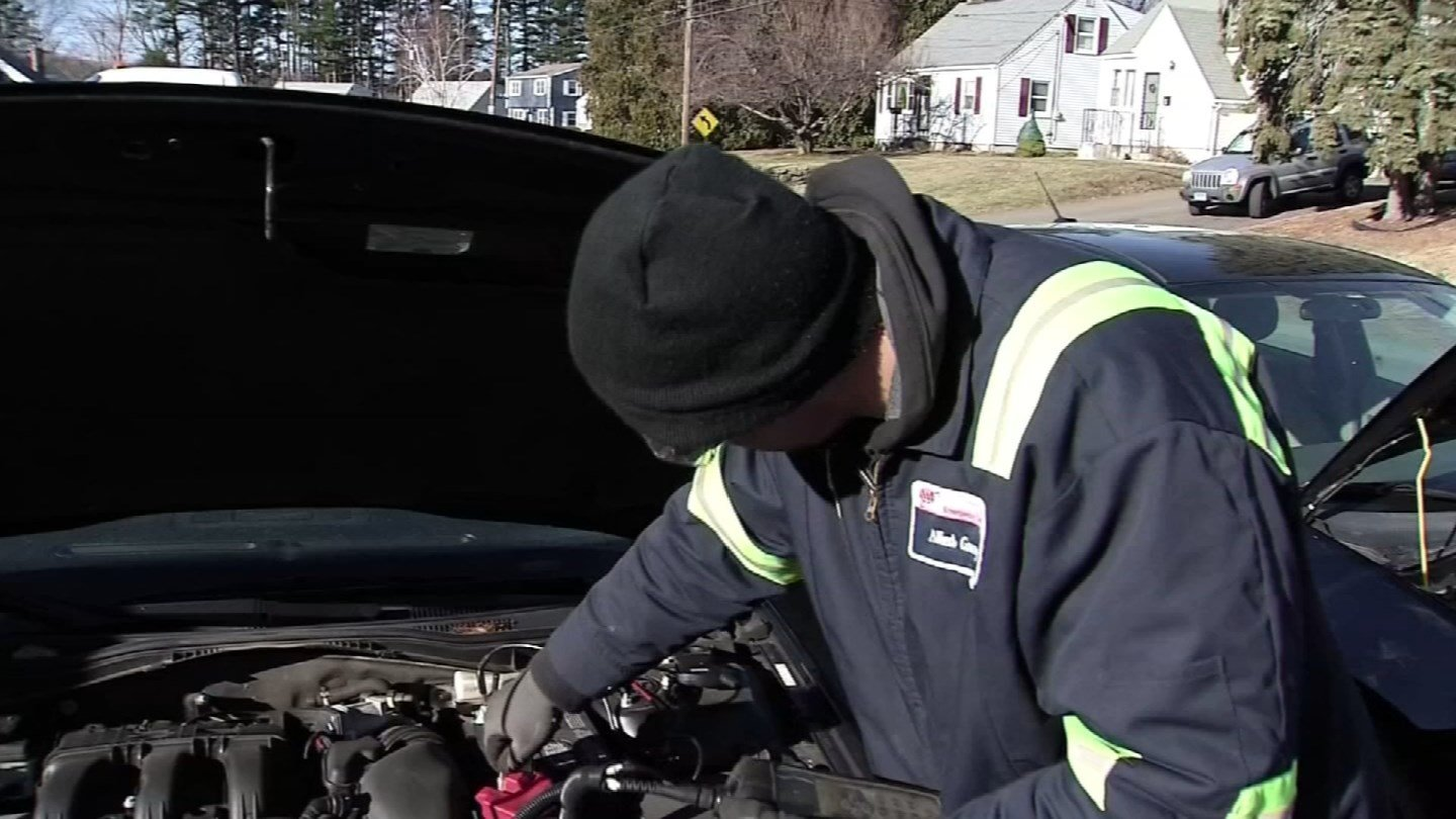 AAA said a number of emergency calls it responded to on Friday were for dead batteries. (WFSB photo)