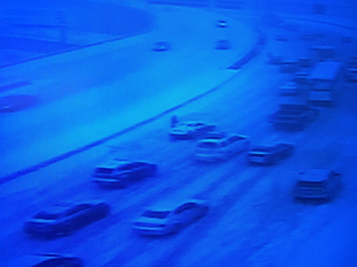 Multiple spin outs have forced State Police to closed I-84 west in Hartford.  (CT DOT camera)