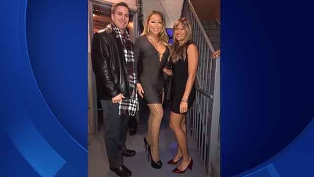 Larissa Podermanski and her husband Martin met Mariah Carey Saturday night (Larissa Podermanski)