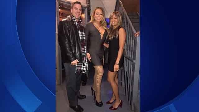 Larissa Podermanski and her husband Martin met Mariah Carey Saturday night (Larissa Podermanski)