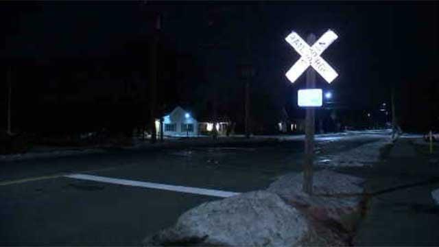 The crash happened on Broad Street in Plainville on Sunday night (WFSB)
