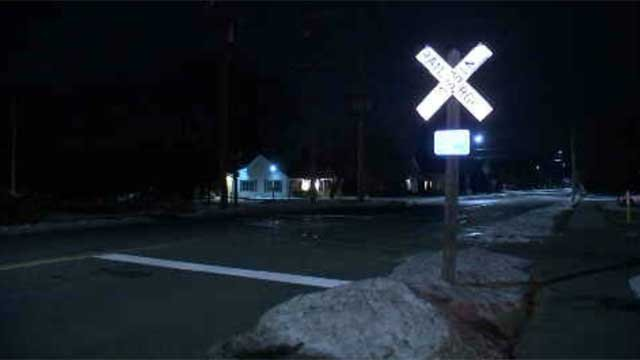 The crash happened on Broad Street in Plainville on Sunday night (WFSB)