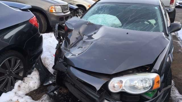 The man's car crashed into a Pan Am train on Sunday night in Plainville