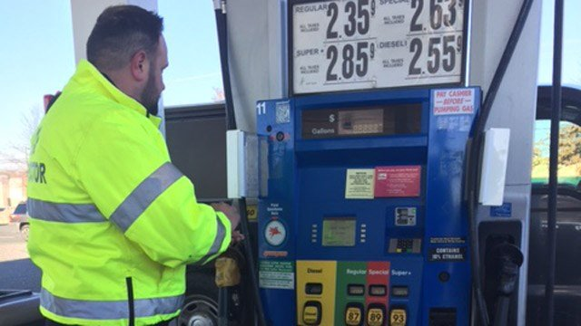 State consumer advocates are urging drivers to be wary of possible information skimmers at gas pumps. (WFSB photo)