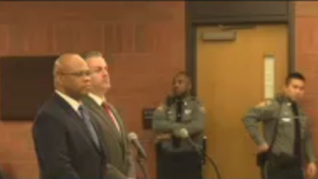 Former Hartford Police Sgt. Sean Spell appeared in court on Wednesday as part of an excessive force investigation. (WFSB)