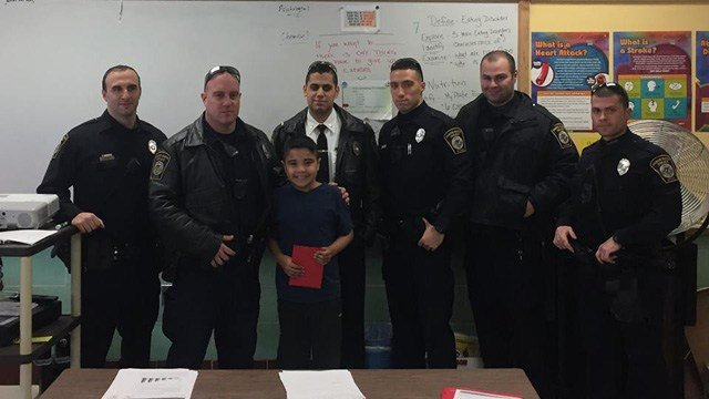 North Haven police thanked Christian Mercado for rescuing a woman. (North Haven police photo)