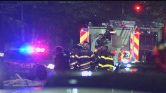 """Fire crews were called to a """"major gas leak"""" in New Haven on Wednesday evening.(WFSB)"""