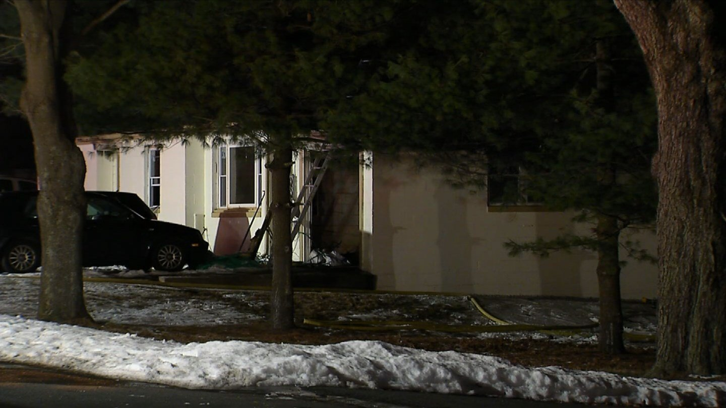 A fire forced residents out of their home in Enfield.